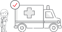 Ikon asuransi kecelakaan diri simasinsurtech