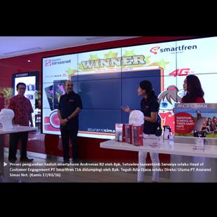 Pengumuman Pemenang Smartphone Andromax R2 dari PT Smartfren Tbk dan PT Asuransi Simasinsurtech