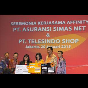seremonia kerjasama affinity asuransi Simasinsurtech dan telesindo shop