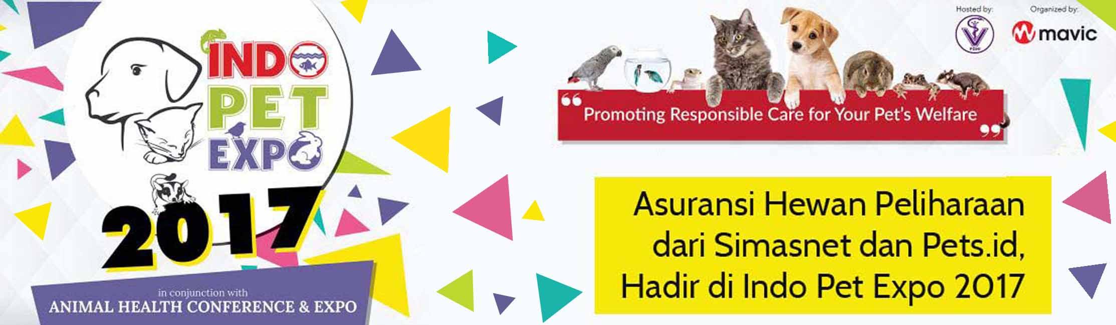 asuransi hewan peliharaan atau pet insurance simas insurtech hadir di indo pet expo 2017 bekerja sama dengan pets.id
