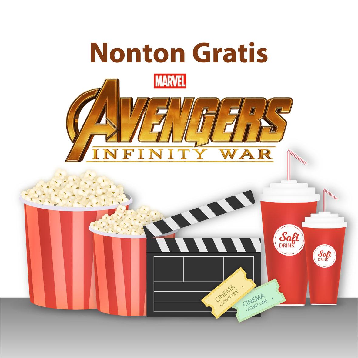 giveaway nonton gratis avenger infinity war