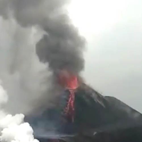Gunung Anak Krakatau masih berstatus siaga