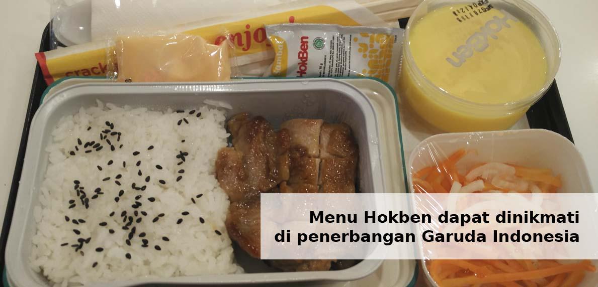 Menu Hokben dapat dinikmati di penerbangan Garuda Indonesia
